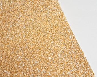SALE 8x11 Cappuccino Chunky Glitter Fabric Sheet