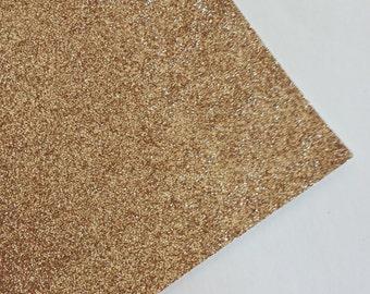 SALE 8x11 Champagne Fine Glitter Fabric Sheet