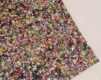 SALE 8x11 Celebration Chunky Glitter Fabric Sheet