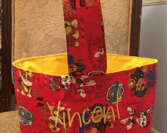 Paw Patrol Fabric Easter Basket/Trick or Treat bag
