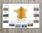 Seating Chart - France or any other State Map - Destination Wedding - Printable file - Your custom pictures