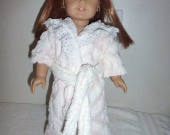 """Vintage Chenille 18"""" Doll Robe Fits18"""" American Girl 18"""" Gotz 18"""" Our Generation and 18"""" Madame Alexander Dolls"""