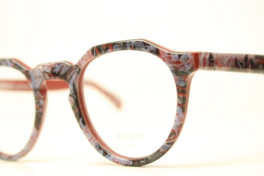 vintage beautiful colorful eyeglass frames unique p3 1980s