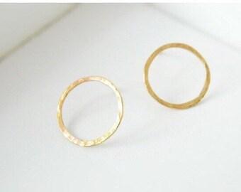 Circle Earrings, Linked Earrings, Stud Earrings, Eternity Earrings, Gold Circle Earrings, Silver Earrings, Dainty Gold Earrings