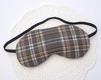 Tartan Fabric Eye Mask