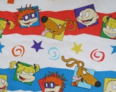 Nickelodeon's Rugrats - Vintage Childrens Sheet - Twin or Single Flat Sheet