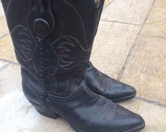 free shipping    cowboy Texanos boots made in Mexico size 41 woman size circa 1996 's