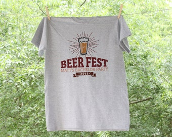 Beer Fest Bachelor Party Shirt with Customized Name and Date - TE