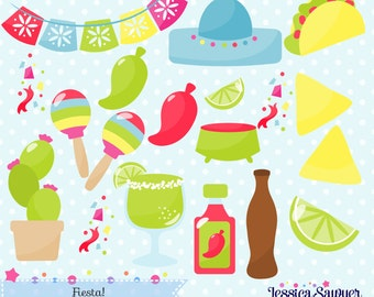 INSTANT DOWNLOAD, Fiesta clipart and vectors for personal and commercial use