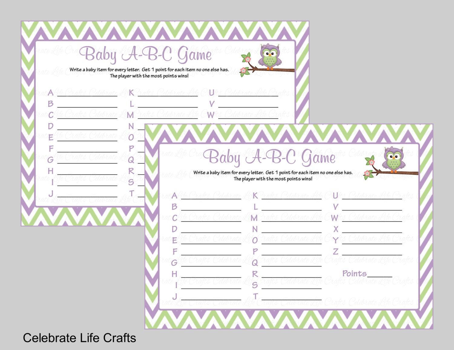 baby abc game baby shower game printable baby shower games