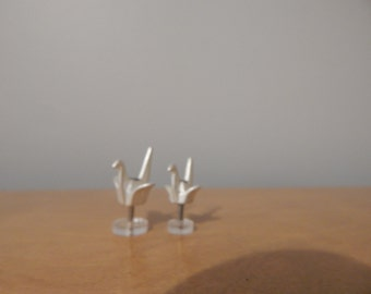 Dollhouse Miniature Modern Origami Bird Sculpture