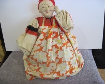 Authentic Russian tea cosy doll