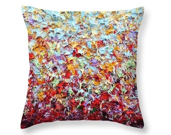 Abstract Expressionism Art Pillow, Warm Tones Decorative Pillow, Fall Home Decor, Fall Colors Accent Pillow, Throw Pillow, Autumn Home Decor