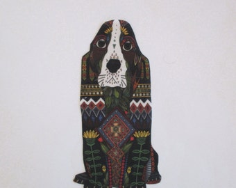 "Hound Dog Patch Embroidered Large 7"" Applique"