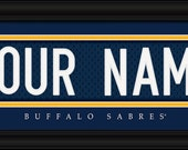 PERSONALIZED & FRAMED NHL Buffalo Sabres Sports Prints