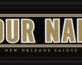PERSONALIZED & FRAMED NFL New Orleans Saints Sports Prints