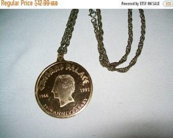50% OFF Vintage CAESARS Palace Las Vegas Large Medallion Pendant Necklace 25th Anniversary