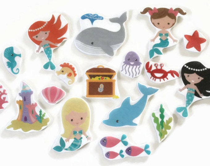 Under the Sea Felt Board Story - Montessori Mermaid Toy, Pretend Play Busy Board, Mermaid Doll Toddler Quiet Book, Quiet Time Kids Activity