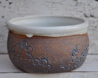 Rustic pottery bowl, small ceramic bowl
