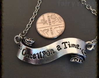 Once Upon a Time scroll pendant necklace