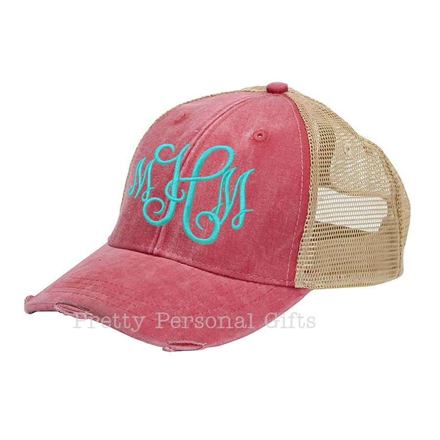 personalized trucker hat baseball hat with monogram 6