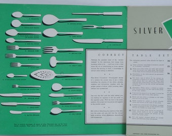 Vintage Silverquette by Emily Post Table Setting Guide