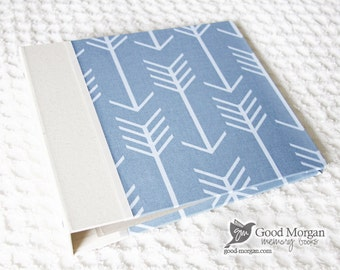 0 to 12 months Baby Memory Book - Denim Arrows