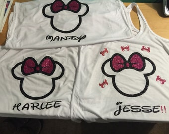 Mickey / Minnie Mouse shirts.