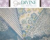 Ocean Curtain Panels, 2 panels, Blue curtain panels