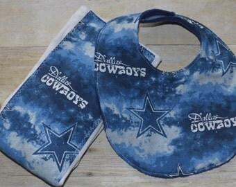 Dallas Cowboys Bib and Burp Pad Set