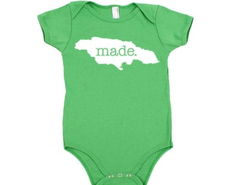 Jamaica 'Made.' Cotton One Piece Bodysuit - Infant Girl and Boy