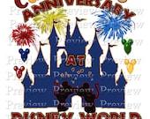 Printable Anniversary Disney Shirt Transfer - DIY Disney Anniversary Shirts - Personalized Anniversary Shirts - Wedding Anniversary Disney