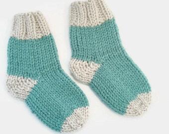 knitted baby socks | newborn socks | green baby socks | baby gift | knit baby socks