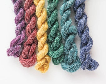 Hand-Dyed Wool Blend Thread Set | Wool Embroidery Floss by In the Patch Designs - Cottage