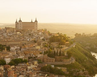 Toledo Sunrise - Spain Photography - Landscape Print - Spain Landscape Photo - Sunrise Photo - Golden Flow, España