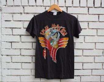 Vintage Van Halen 1984 Live Shirt Live Promo Anvil tag Japan Tour eddie van halen vtg live concert