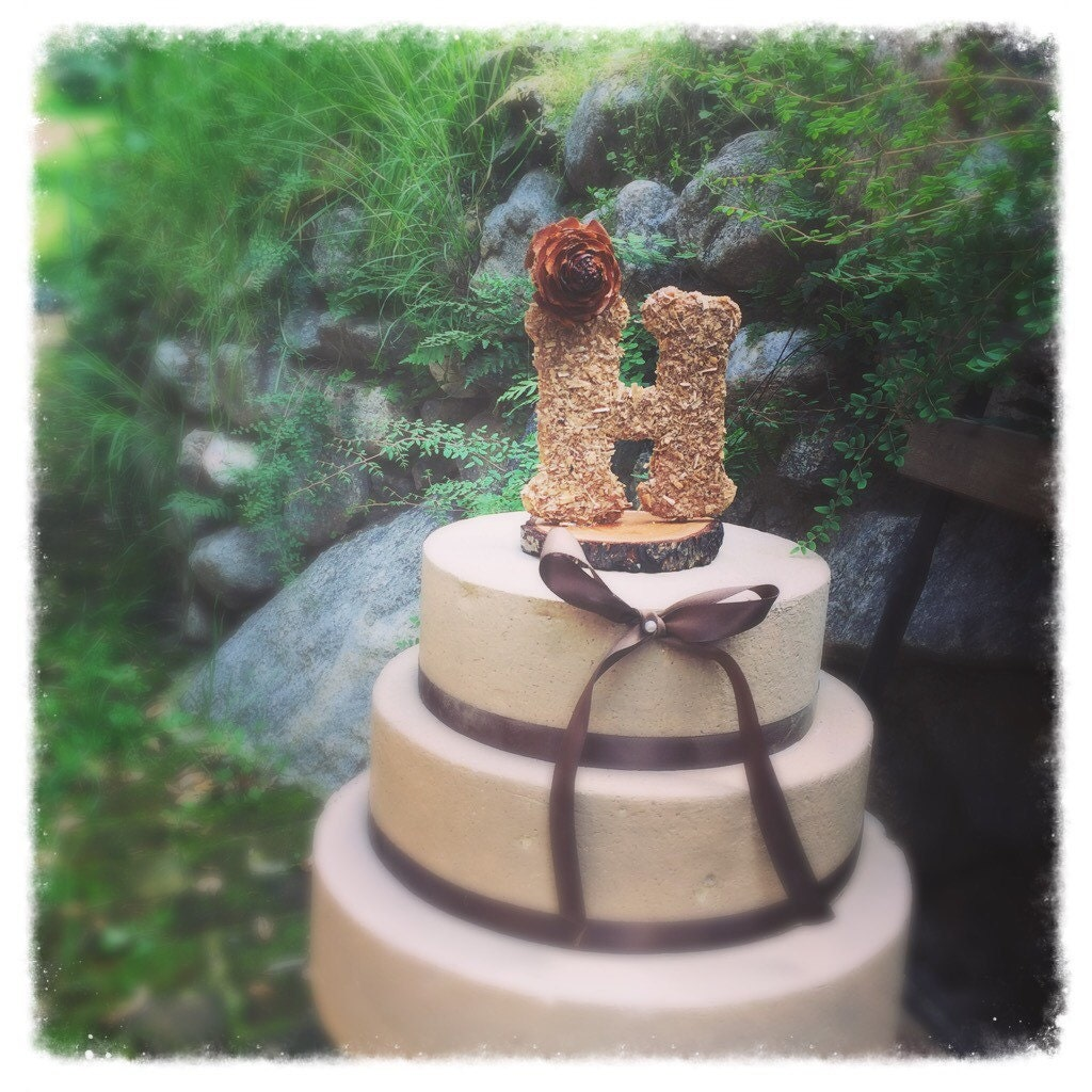 pine garden wedding cake review wooden letter wedding cake topper rustic cake topper fall 18527