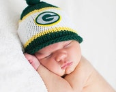 Green Bay Packers Baby Hat, Newborn Photo Prop, Green Bay Baby, Baby Boy Knit Hat, Baby Boy Hat, Baby Girl Hat, Green Bay Packers Knit Hat