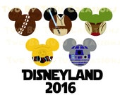 Disneyland Fab Five 2016 Star Wars Family Trip Printable Image for Iron On Transfer DIY Disney Vacation Cruise Wedding Jedi Mickey