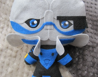 Mass Effect Chibified Garrus Vakarian Inspired Plush: MADE TO ORDER