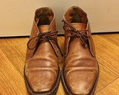 Women's Size 8 1/2 Brown Leather Shoes Men's Size 7 Brogues Vintage 1980s Barney's New York Lace Up Oxfords Brown Leather Lace Up Shoe boots