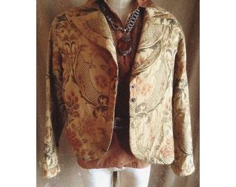 Vintage tapestry jacket baroque coat