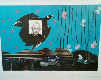 Anthony Hopkins hand made collage