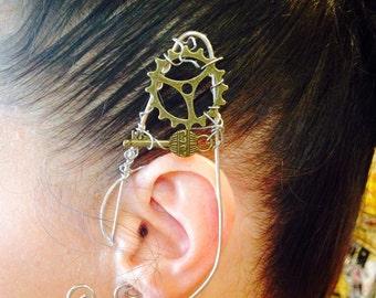 Steam Punk Ear Cuffs, Elf Ears, Fairy Ear Cuffs, Elf Ear Cuffs