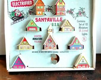 Vintage Santaville Light Up Village