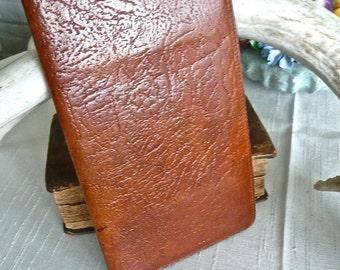 Vintage Wallet - Travel Billfold - Men's Leather Wallet - Suit Pocket Wallet - Oak Colour - Multi pocket - Satin Lining - English Billfold