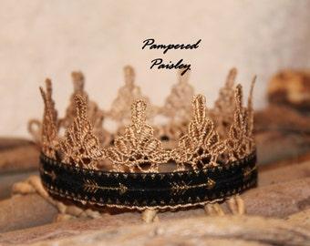 Black and Gold Crown, baby boy crown, Gold crown, toddler Crown, king crown, photo prop crown, birthday crown