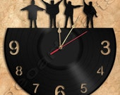 Wall Clock Beatles Vinyl Record Clock Upcycled Gift Idea