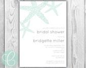 Printable Bridal Shower Invitation - Starfish