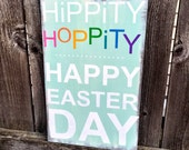 Easter wood sign home decor